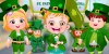Hazel bebek İrlanda bayramı