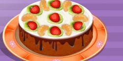 çikolatalı meyveli pasta