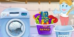 Cincime çamaşır yıkıyor