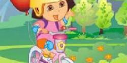 Dora bisiklet sürme