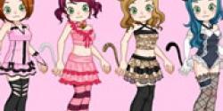 Kedi kızları giydir