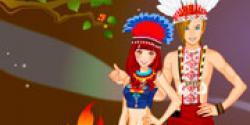 Kızılderili çift giydir
