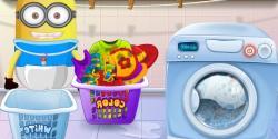 Minnion çamaşır yıkıyor