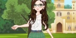 Sevimli Okul Kızı