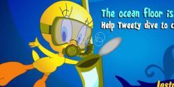 Tweety deniz temizliyor